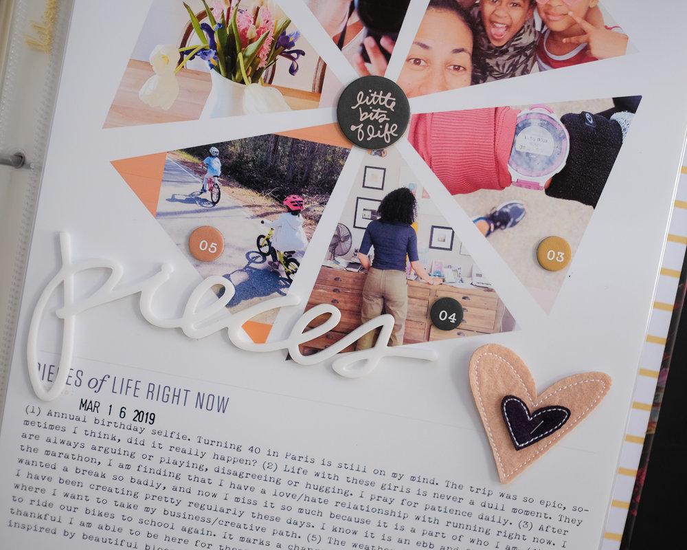 Pieces Story Kit Layout by Azzari Jarrett