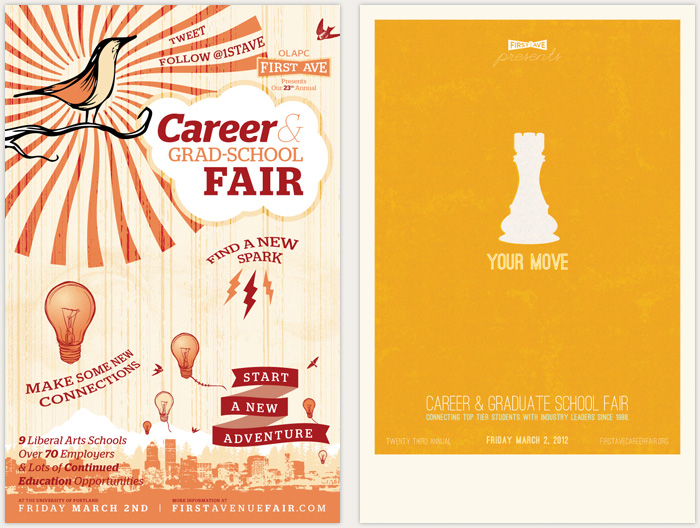 two directions in progress for an upcoming college fair relevant