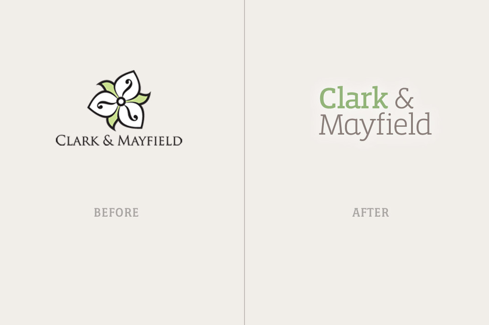 Before and after of logo