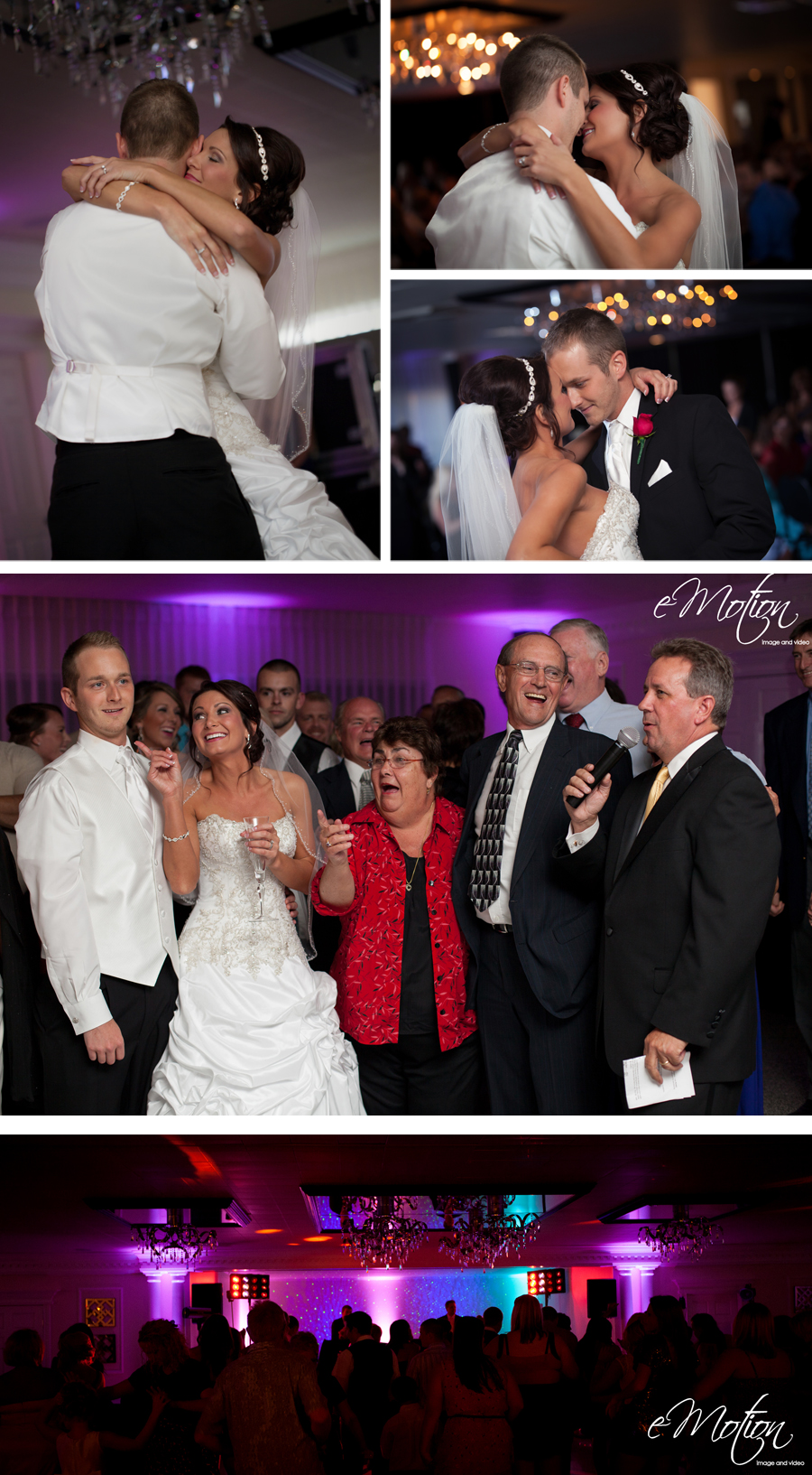Kenny Sauter with  Masters of Music  turned the reception into a huge dance party that everyone enjoyed.  Kenny has some of the best decor lighting in the industry.  Every time I work with Kenny at a wedding I know it is sure to be an awesome reception.