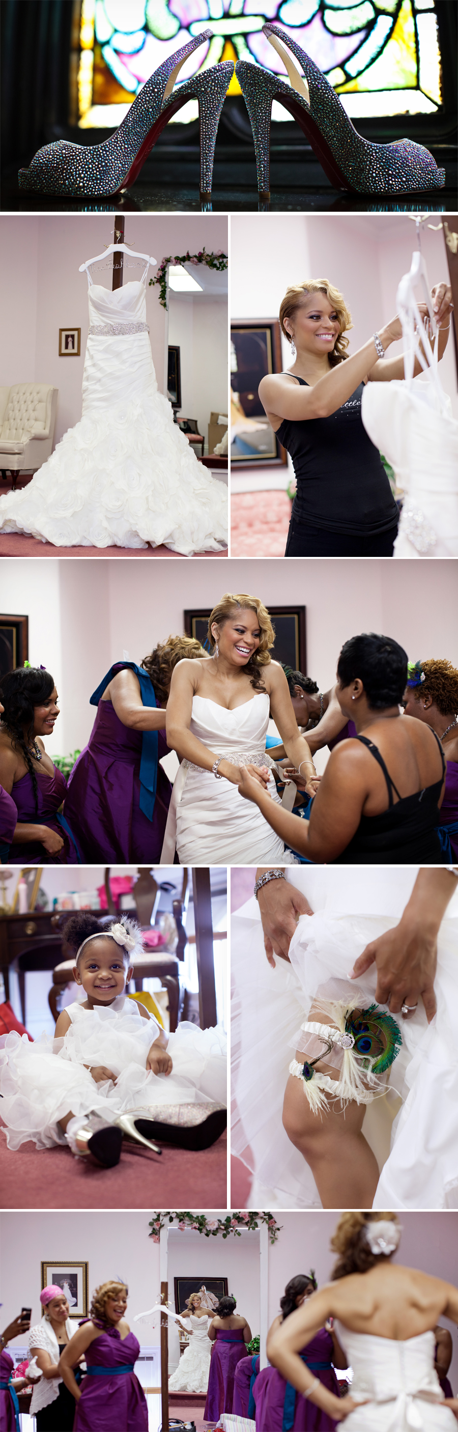 Charlene was actually more excited about her gorgeous Jimmy Choos shoes than her wedding dress. Both were beautiful, but the shoes were stunning!! Great choice.