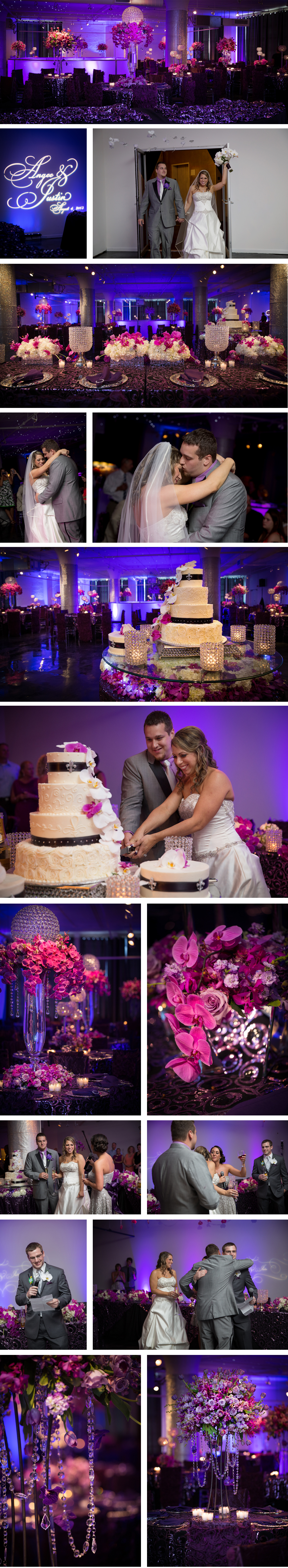 An elegant wedding at The Foundry at Glassworks with Fleur de Lis Events and Decor providing the floral and decor.