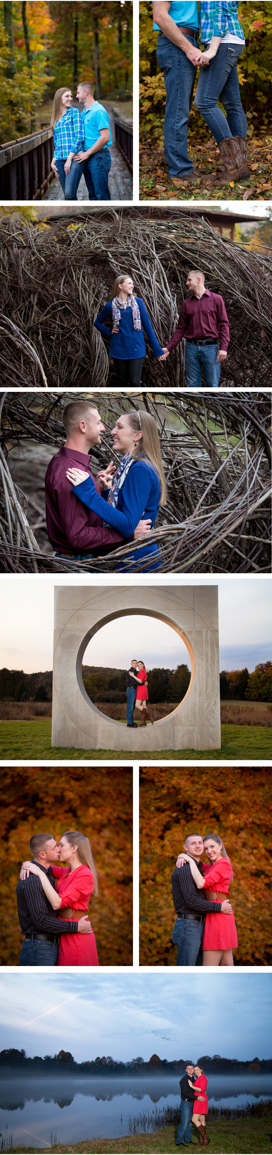 Bernheim Forest Fall Engagement Photos by Louisville Photographers eMotion image and video.