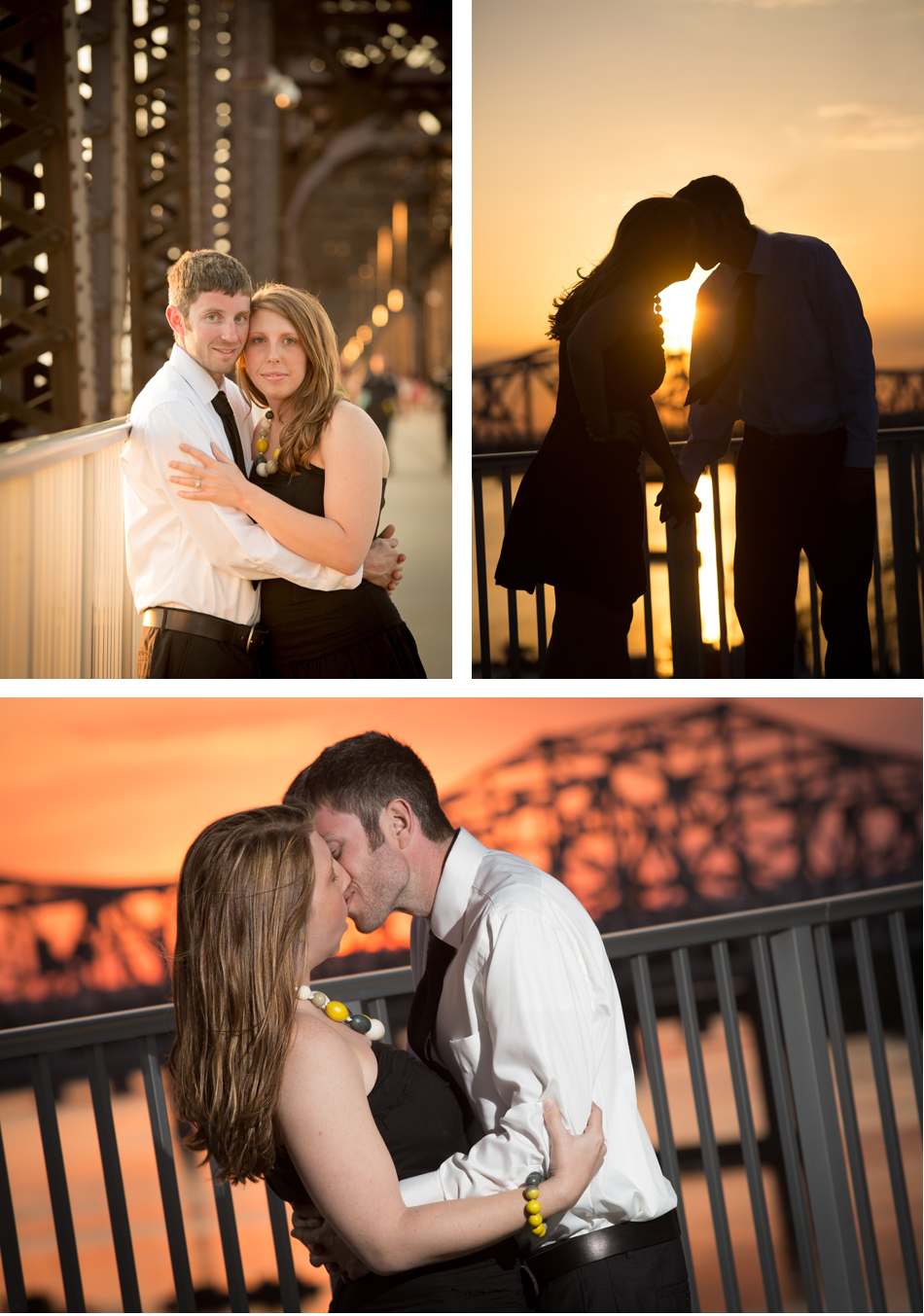 Big Four Bridge engagement photos