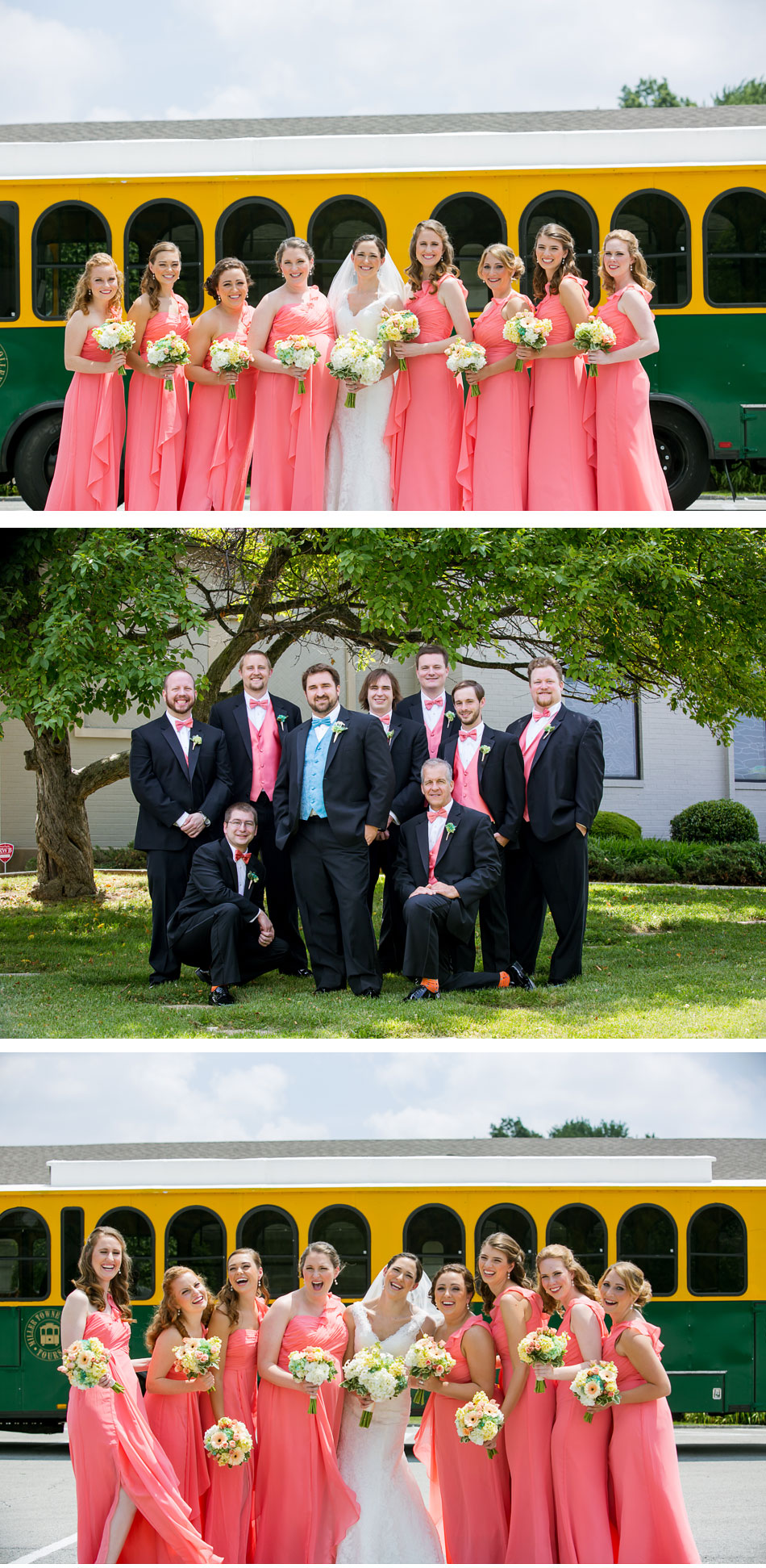 Bridal Party Trolley Photos