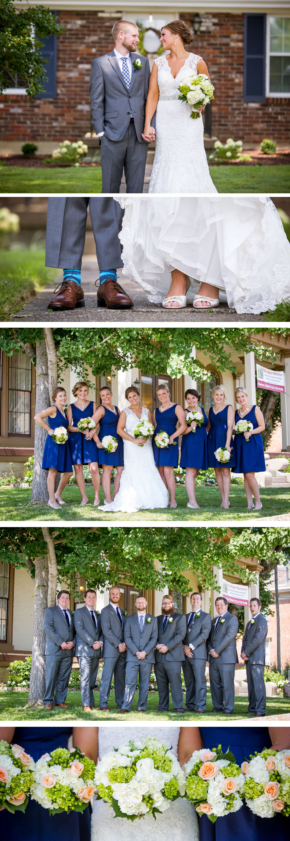 Bridal Party Pictures Pepin Mansion
