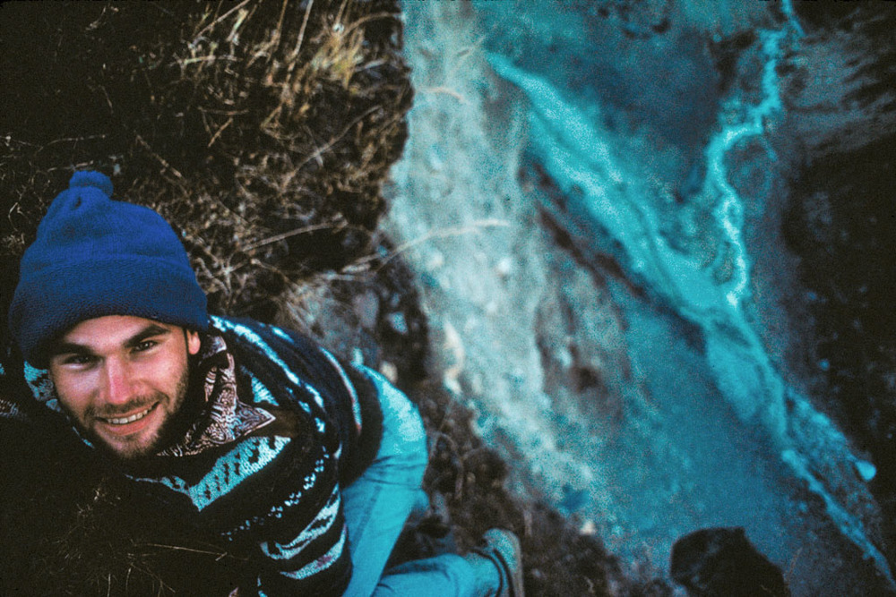 Steve Correl on top of Annapurna Moraine