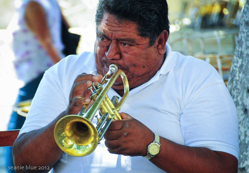 Oaxaca trumpeter & band leader.