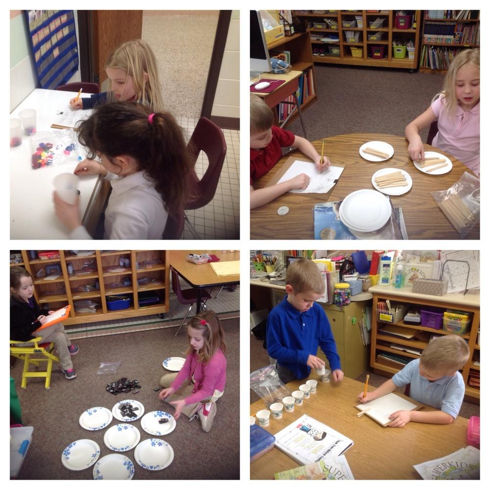 Making groups of ten.