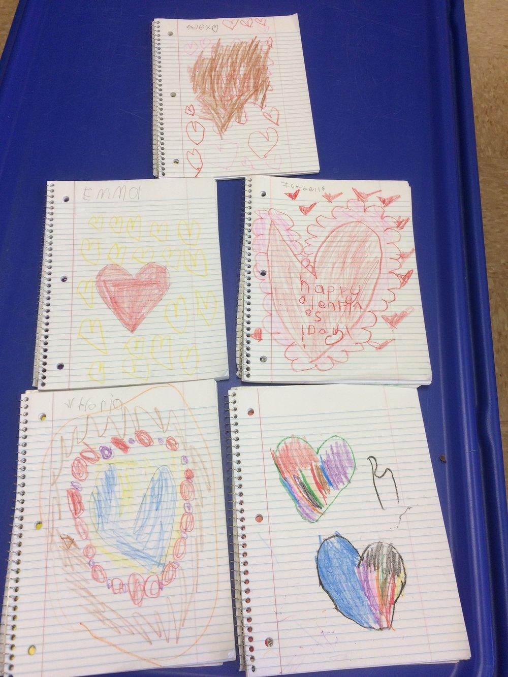 Friends added a valentine message to their journals! XOXO
