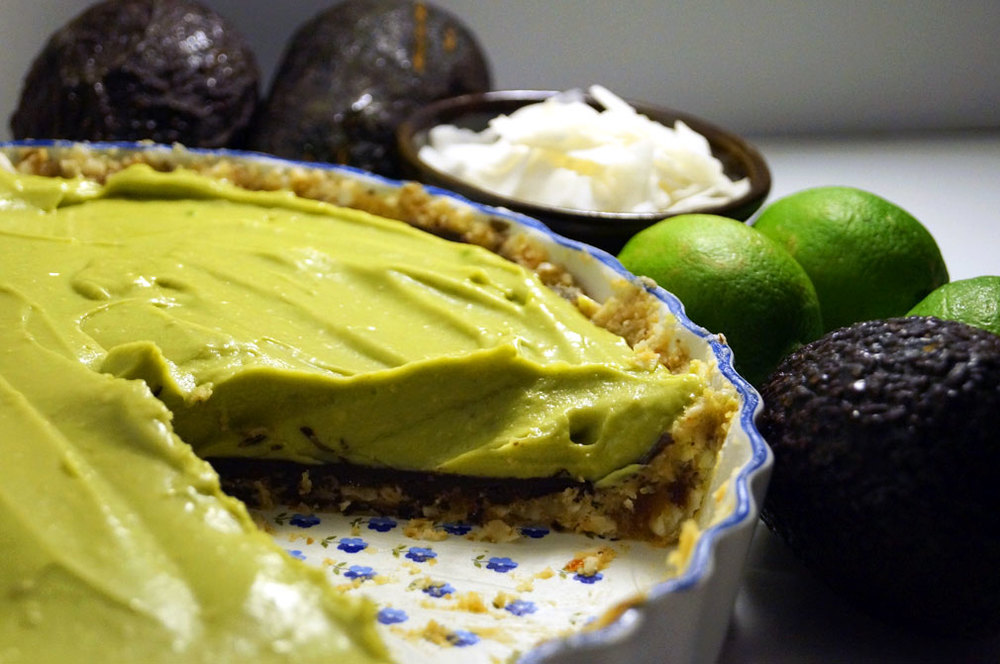 Chocolate, Avocado, Coconut, and Lime Pie (p. 159)
