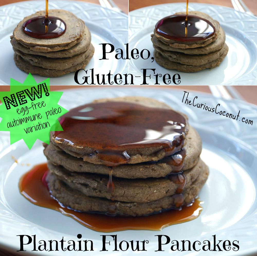Paleo, gluten-free plantain flour pancakes (with an #eggfree #autoimmunepaleo variation) #paleo #glutenfree