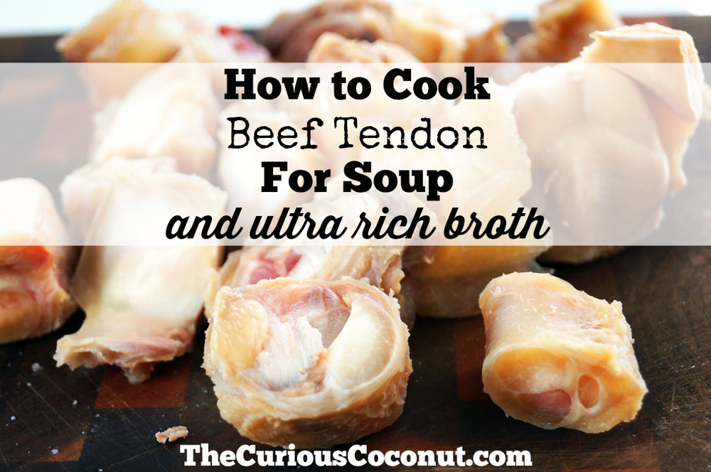 How to cook beef tendon for soup and ultra rich broth #oddbits #beeftendon #paleo
