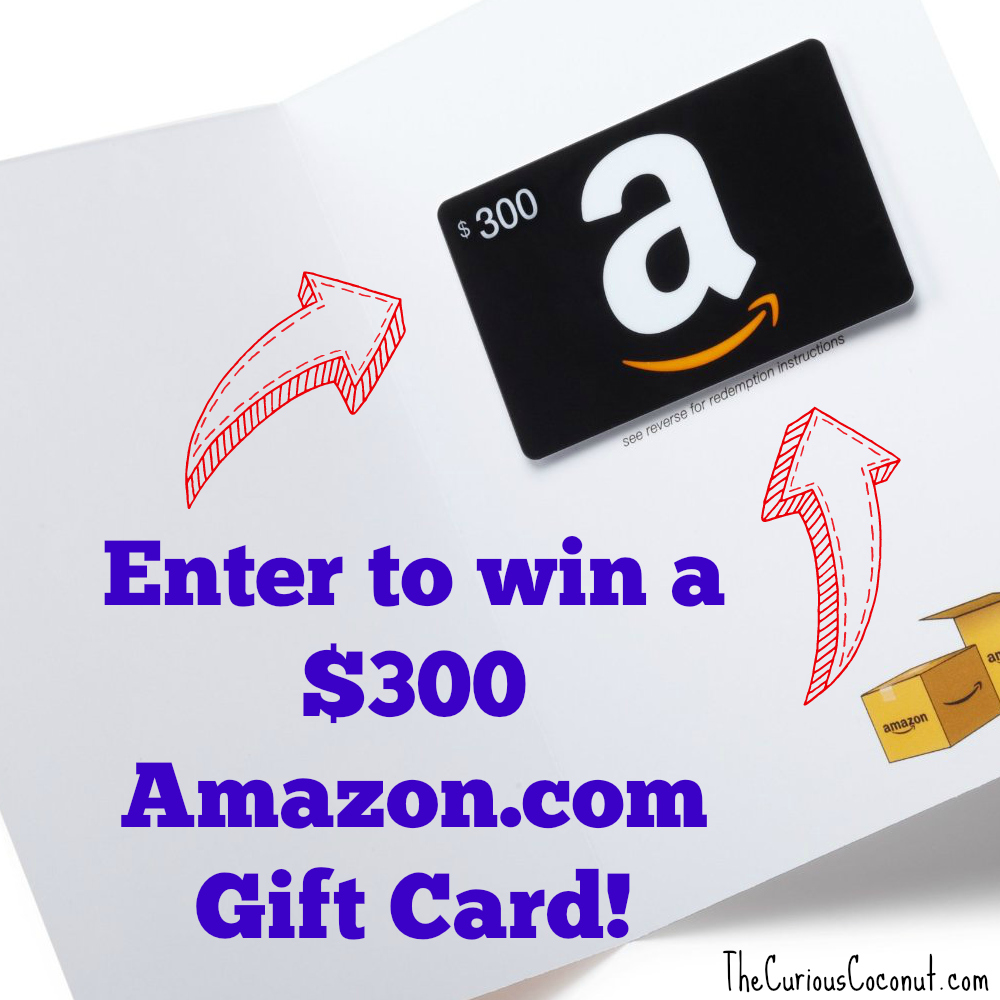 $300 Amazon Gift Card Giveaway! — The Curious Coconut
