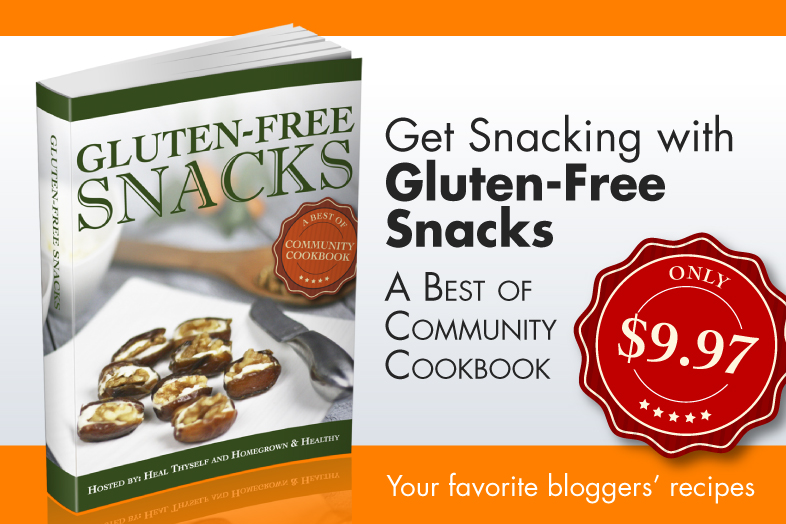 Gluten Free Snacks Community Cookbook - 34 #paleo #realfood #snacks recipes! TheCuriousCoconut.com