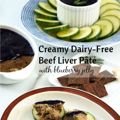 Rich Creamy Dairy Free Beef Liver Pt With Blueberry Jelly The