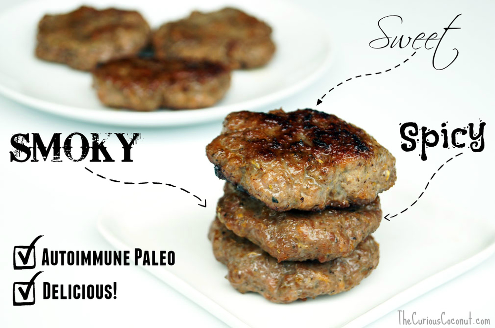 Smoky, Sweet, Delicious #AIP Maple Sage Breakfast Sausage // TheCuriousCoconut.com