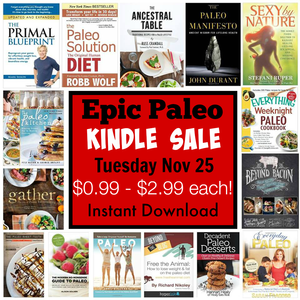 Epic Paleo Kindle Sale on Amazon.com