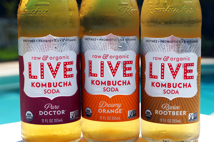 LIVE kombucha soda - paleo friendly, raw, organic, delicious!