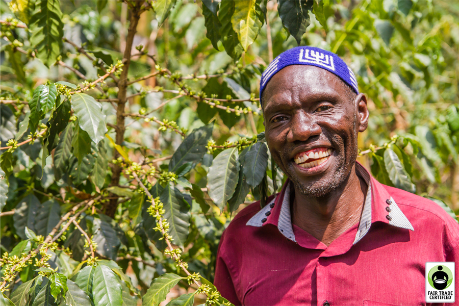Joab Jonadab Keki, an inspirational coffee farmer & member of the Gumutindo Coffee Cooperative in Uganda
