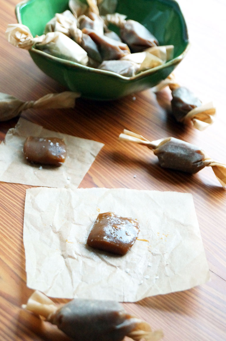 dairy-free salted caramels