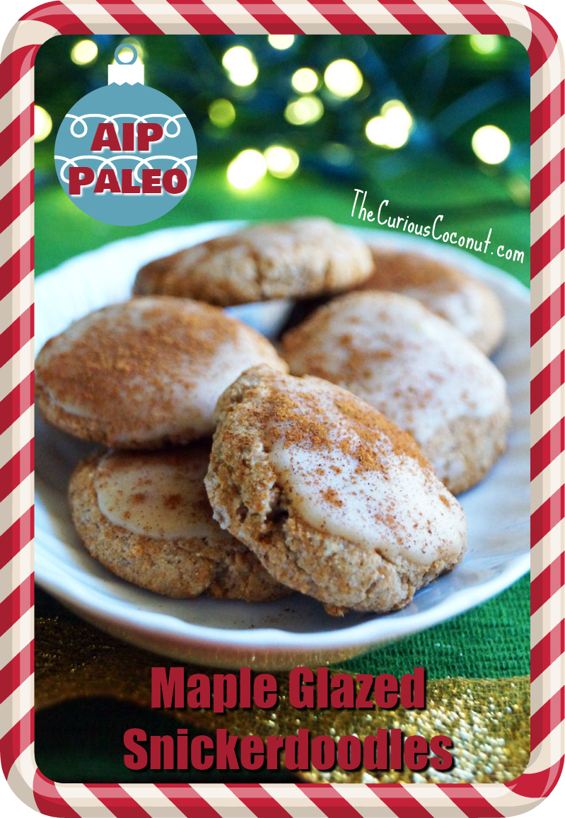 Maple Glazed Snickerdoodles - Holiday Cookies! (AIP, Paleo)  // TheCuriousCoconut.com