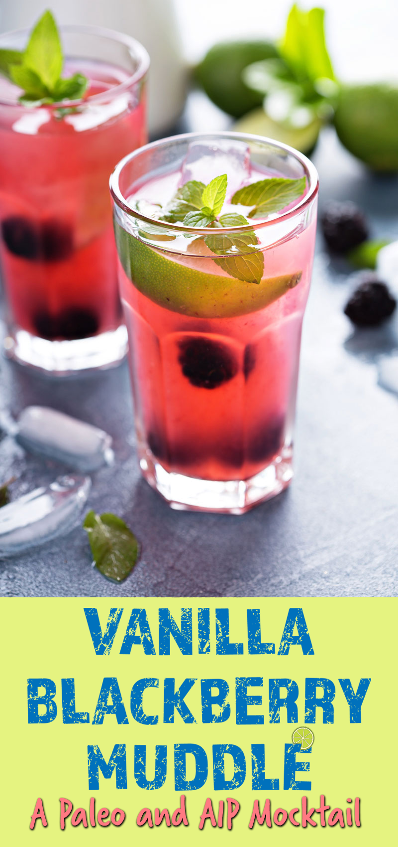 Vanilla Blackberry Muddle Mocktail // http://TheCuriousCoconut.com #AIP, Paleo