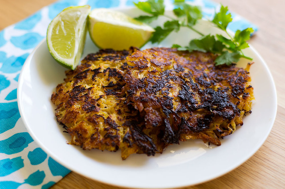 Garlic Lime Chicken Plantain Fritters (Paleo, AIP, Whole30) // TheCuriousCoconut.com