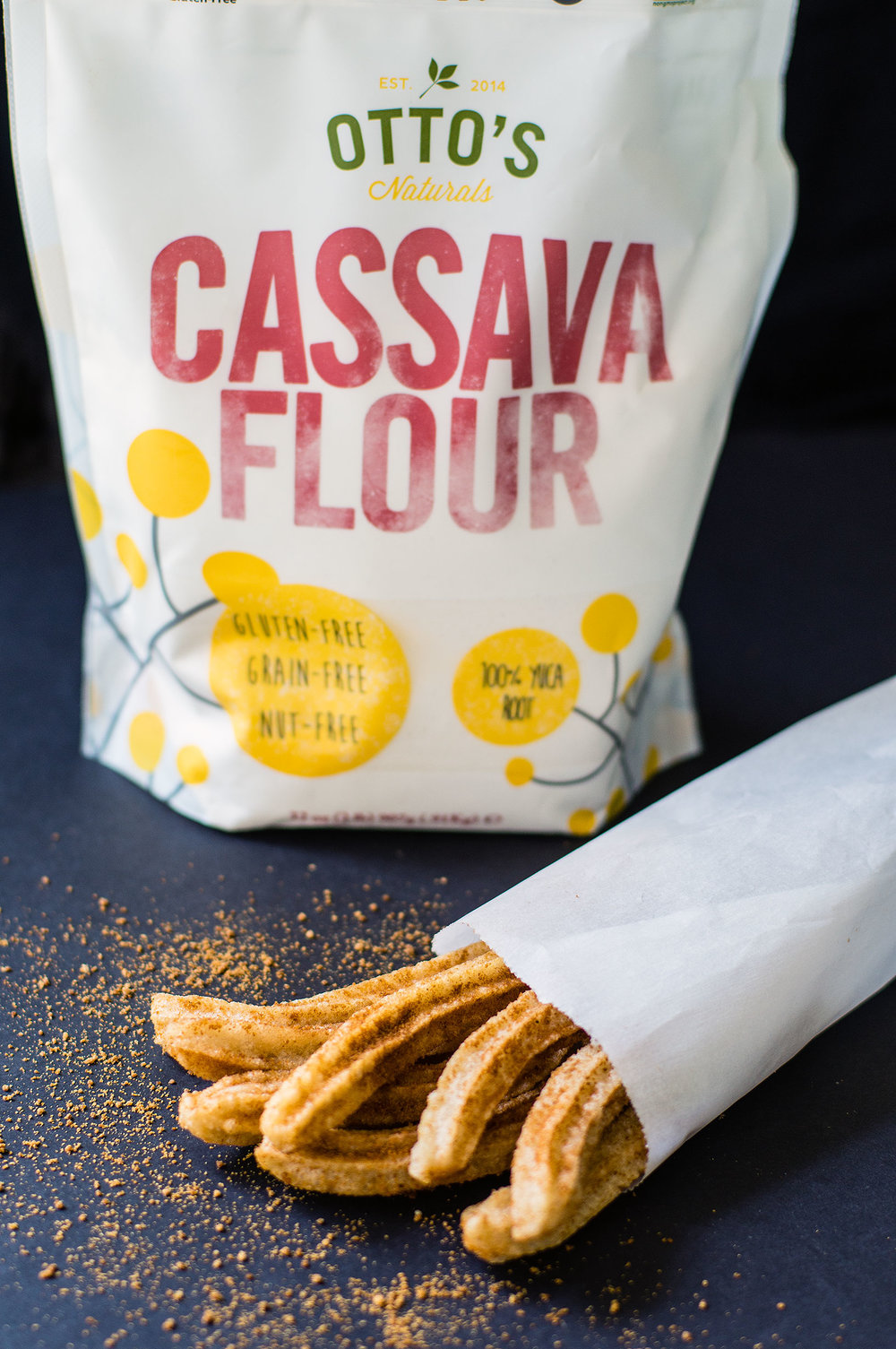 Churros Mexicanos with Otto's Cassava Flour - Grain-free, Gluten-free, Vegan, Paleo, AIP, Egg-free // TheCuriousCoconut.com