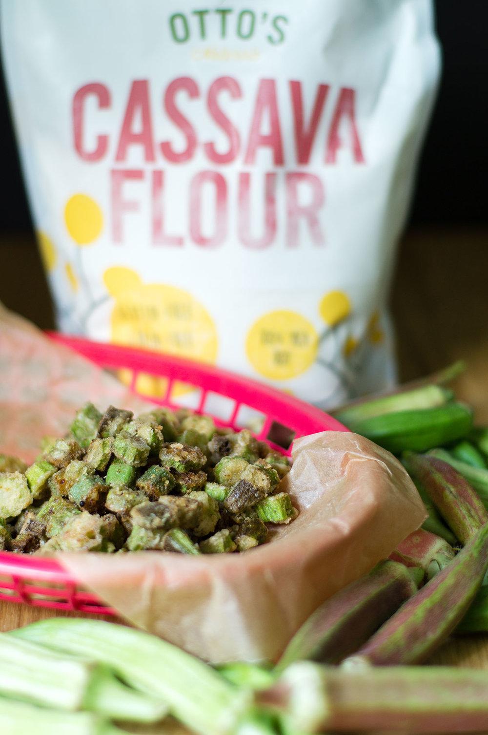 Southern Fried Okra // Paleo, AIP, Vegan, made with Otto's Cassava Flour // TheCuriousCoconut.com