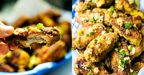 Brazilian Style Chicken Wings With Crispy Garlic Frango A