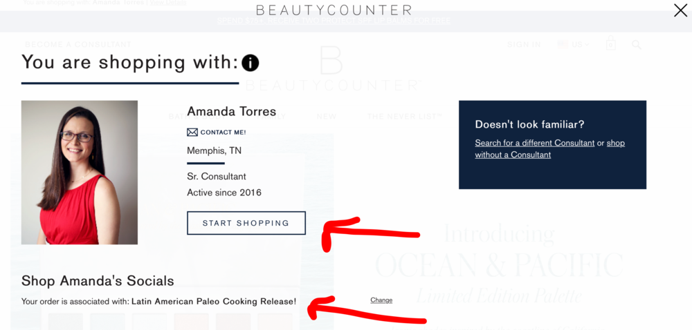 amanda's beautycounter book promotion