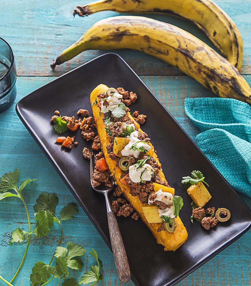 Canoas de Platanos Maduros from Latin American Paleo Cooking. Photo credit: Toni Zernik