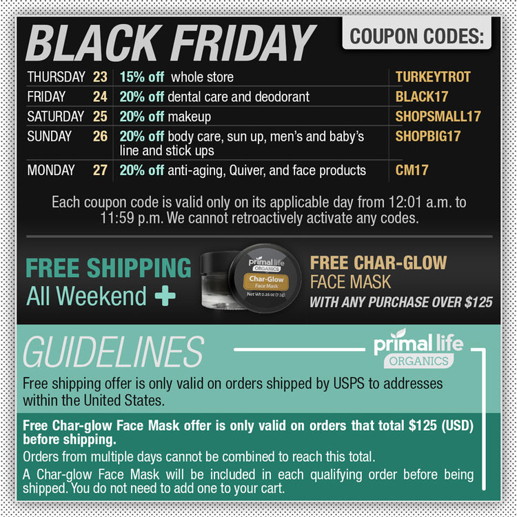 Black fridaycyber monday 2017 for paleo and aip the curious coconut primal life organics sales fandeluxe Choice Image