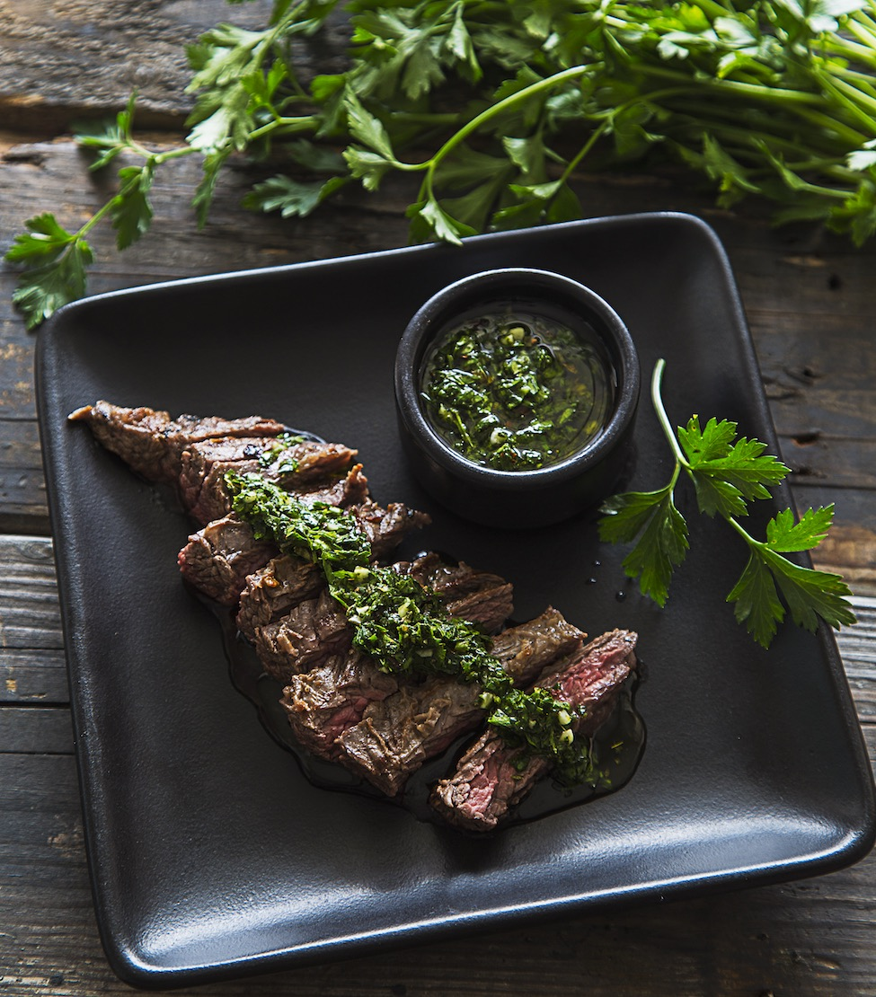 Churrasco and chimichurri from  Latin American Paleo Cooking