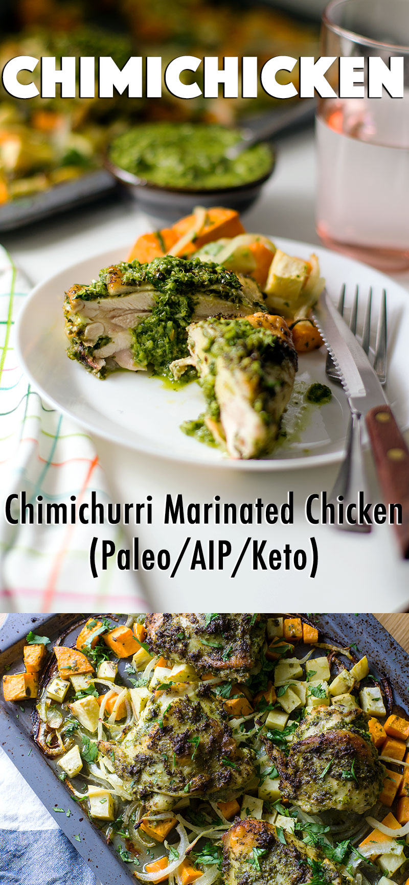 Chimichicken: Chimichurri Marinated Chicken for #Paleo, #AIP, #Keto, #whole30 - easy and full of so much flavor! //   TheCuriousCoconut  .  com
