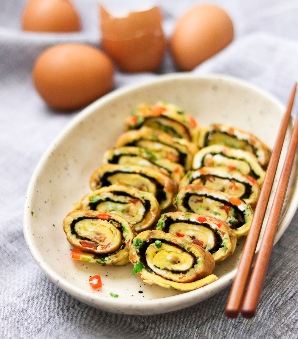 Paleo Gyeranmari (Korean Rolled Omelet)