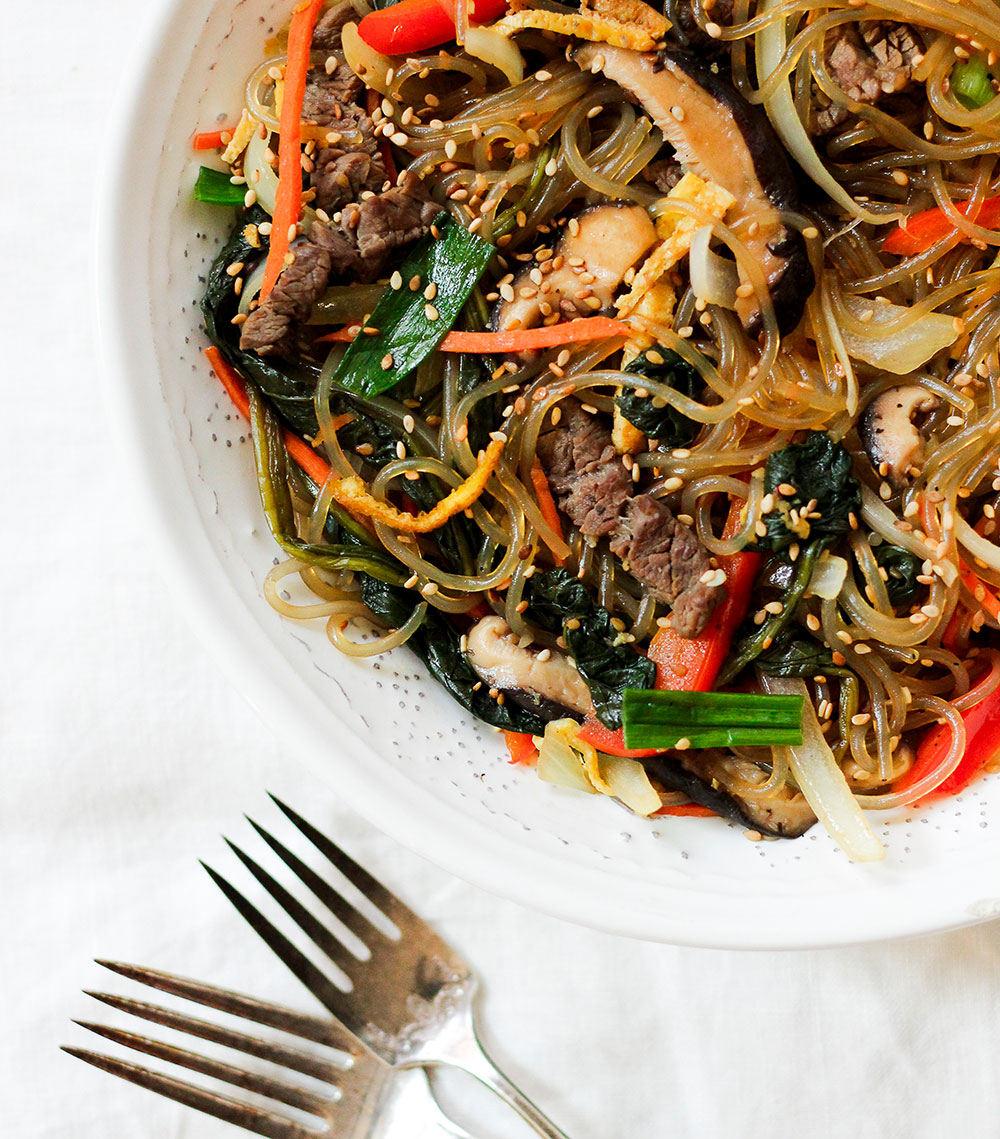 Paleo Japchae (Korean Stir-Fried Sweet Potato Noodles)