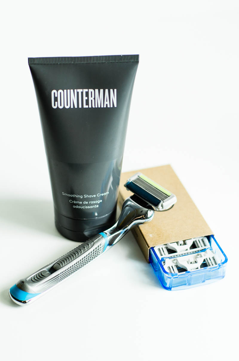 Counterman Smoothing Shave Cream + Dollar Shave Club Executive Razor = amazing shave for men and women both!