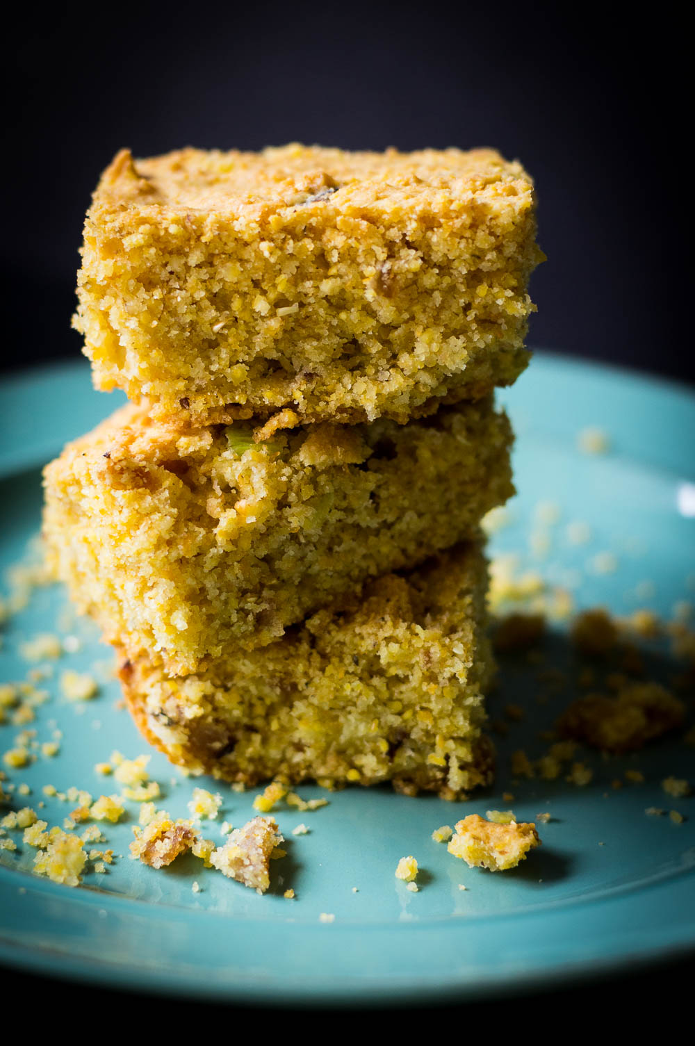 coarse grind cracklin' cornbread made without gluten, dairy, or eggs
