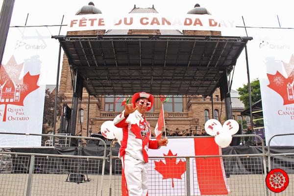 An enthusiastic Canada Day Fan