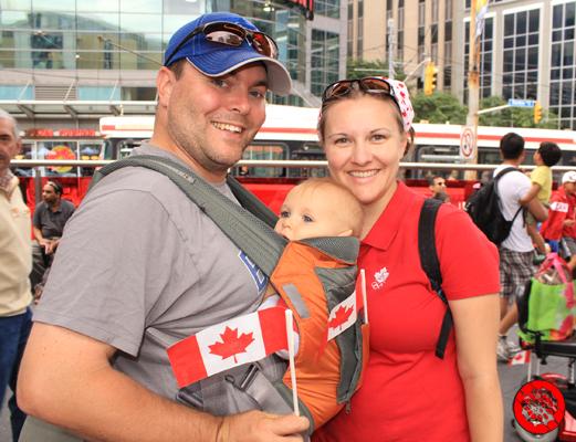 Celebrating Canada Day at Dundas Square