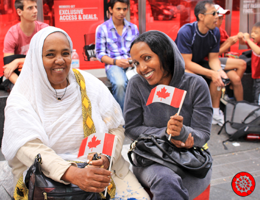 Celebrating Canada Day at Dundas Square