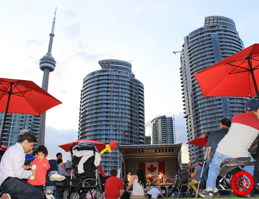 Canada Day Celebration at Exhibition Common at Harbourfront