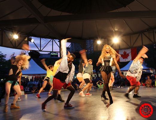 Dance Group performing at the Red Path Stage at Harbourfront