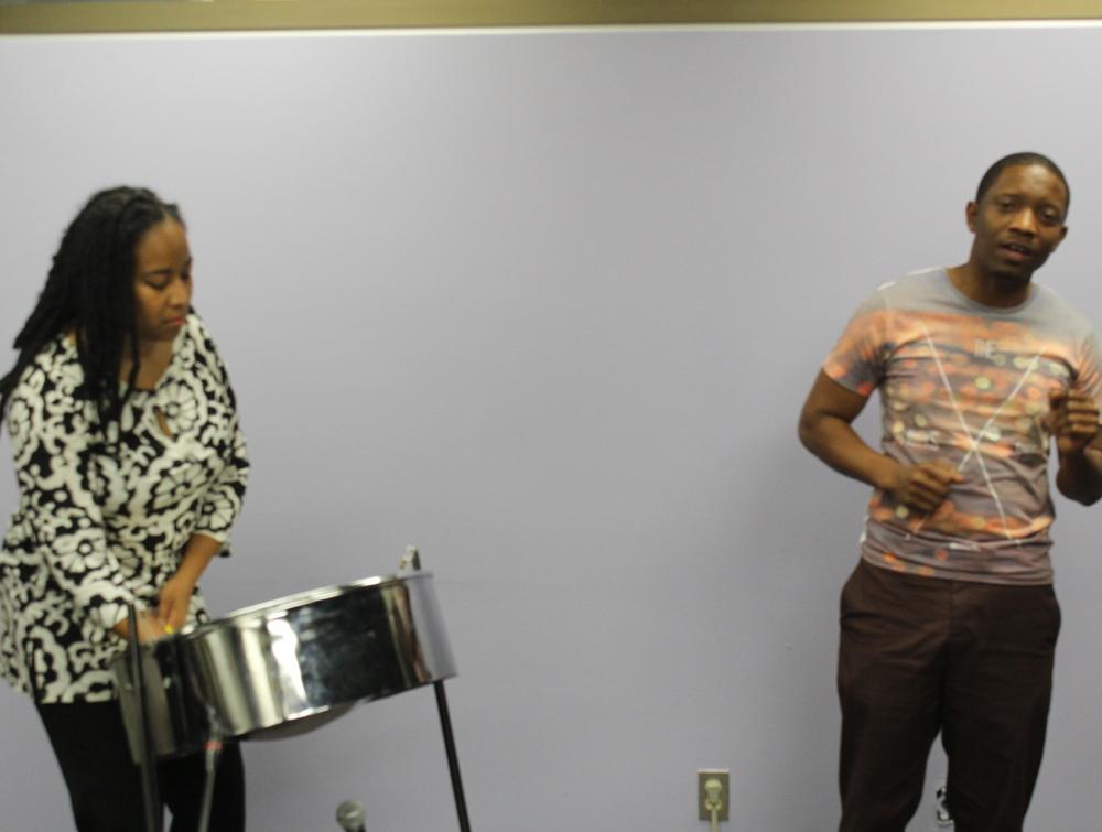 Steelpannist Suzette Vidale & Reggae artist Korexion