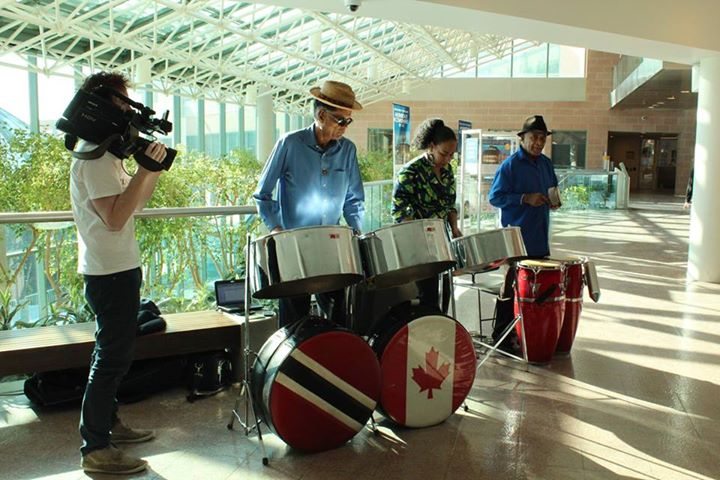 Steelpan trio performs for the Markham media launch of the Reel World Film Festival beginning in March Source:   Reel World Film Festival