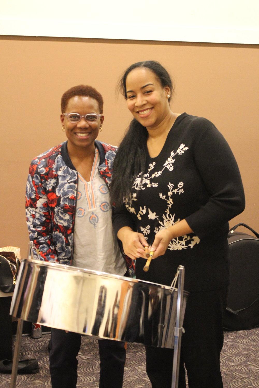 Vice Principal, Jamea Zuberi & Steelpannist Suzette Vidale