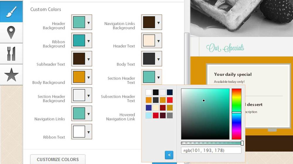 Color Palette Selector