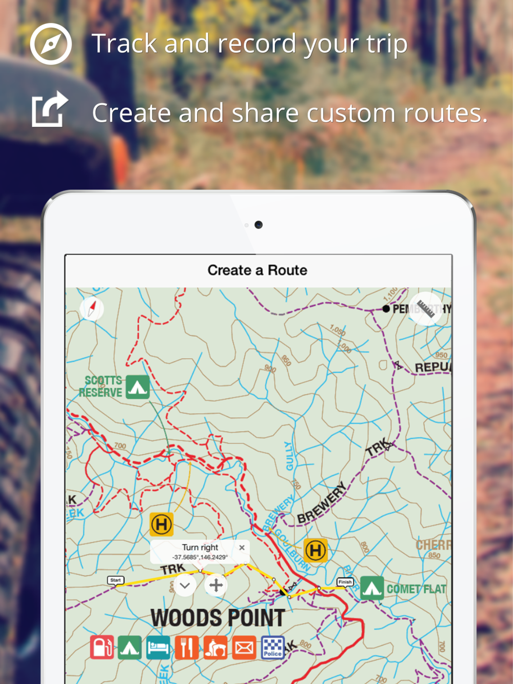 Mud Map GPS App